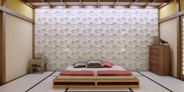 Белые панели на стену - пример в интерьере