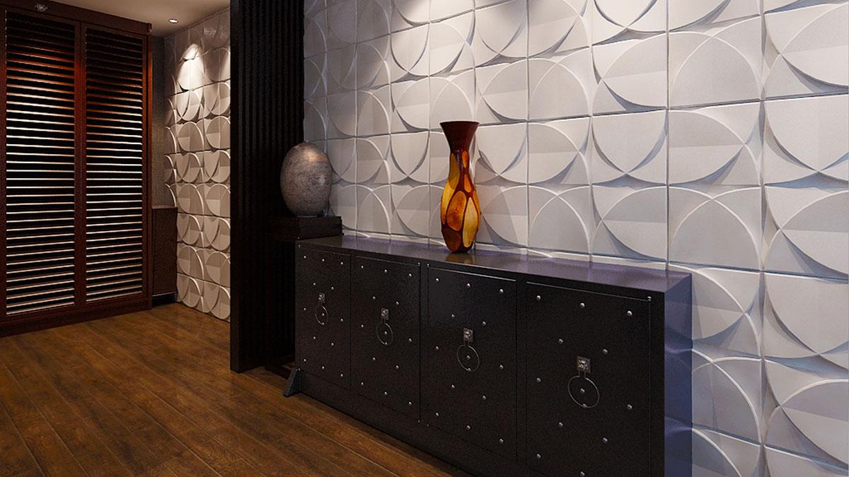 Стеновая панель Милли в интерьере