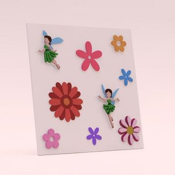 Стеновые панели Фэи для детской - пример оформления