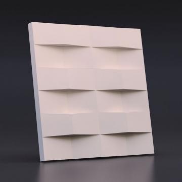 Гипсовая панель Ступенчатый кирпич - вид сбоку