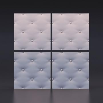 3d панели для стен Кожа капитоне - кв.м