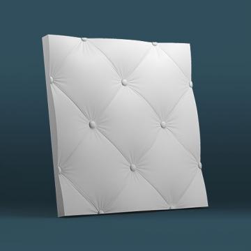 Гипсовые панели для стен Кожа крупная - вид сбоку