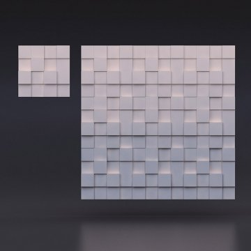 3д панели Квадрат разноуровневый - фото издалека