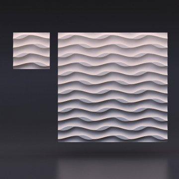Гипсовые 3д панели Листья на песке - вид издалека