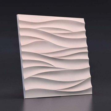 гипсовые 3д панели Острые волны - вид спереди