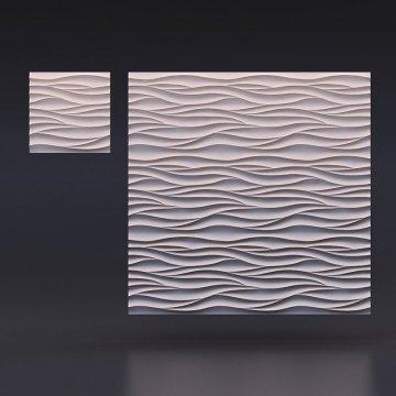 гипсовые 3д панели Острые волны - вид издалека
