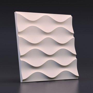 Гипсовые 3д панели Песочная волна - вид спереди