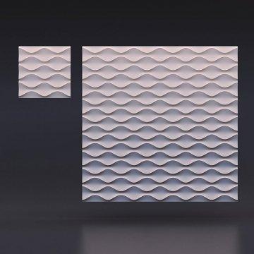 Гипсовые 3д панели Песочная волна - вид издалека