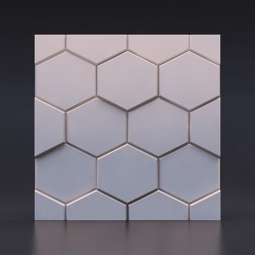 3д панель Шестигранник - вид спереди