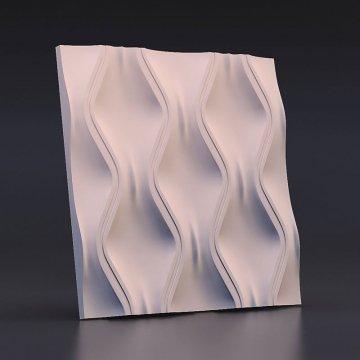 Гипсовые 3д панели Текущий песок - вид спереди