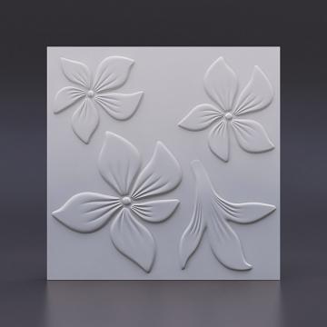 Белые панели Цветок на стену