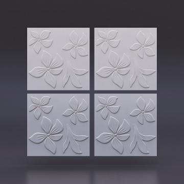Белые панели Цветок на стену - 1 кв.м