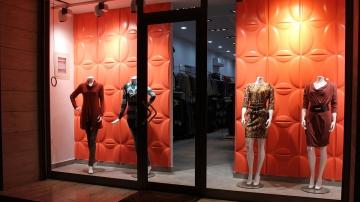 3d стеновые панели Элипс в интерьере магазина