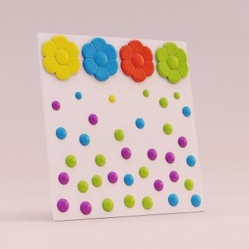 Детские декоративные панели Точки - пример раскрашивания