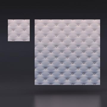 3d панели для стен Кожа капитоне - вид издалека