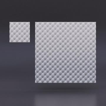 Гипсовые 3д панели Кожа мелкая - вид издалека