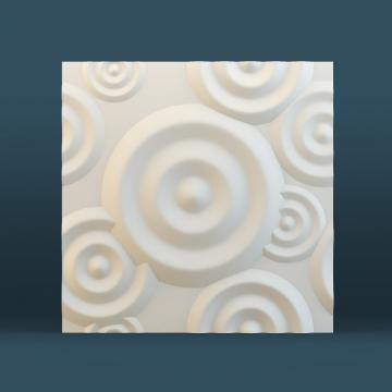 3д панели для стен Круги - фото спереди