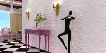 Декоративные 3д панели Микро в интерьере