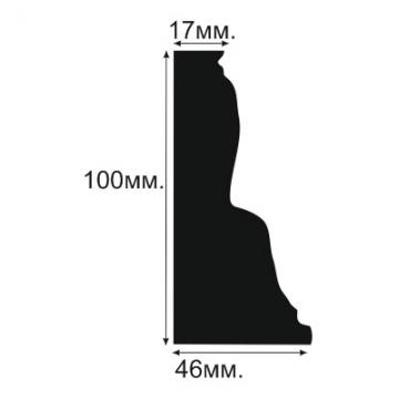 Плинтус напольный, потолочный №10 - размеры