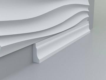 Плинтус напольный, потолочный №2 - вариант монтажа