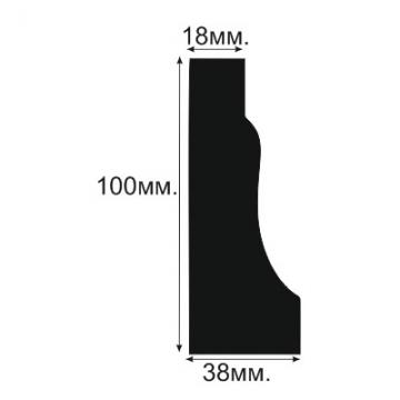 Плинтус напольный, потолочный №2 - размеры
