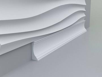 Плинтус напольный, потолочный №3 - вариант монтажа