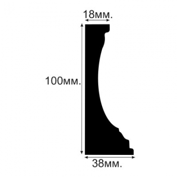 Плинтус напольный, потолочный №3 - размеры