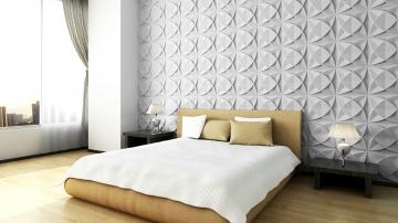 Декоративные 3д панели Селли в интерьере