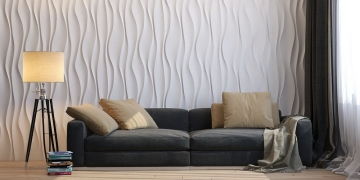 3д панели для стен Водопад - фото в интерьере