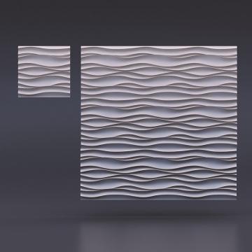 3д панель Волна Атлантика. Вид в миниатюре