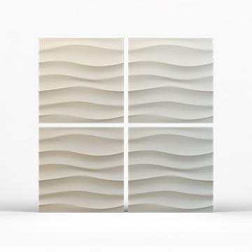Стеновые панели Волна горизонтальная крупная - 4 шт