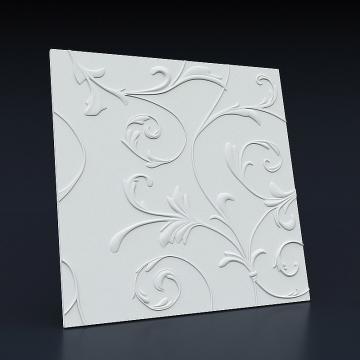 3d панели на стену Цветочный узор - вид сбоку