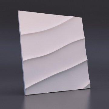3d панели Волна диагональная крупная - вид спереди