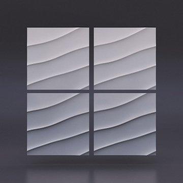 3d панели Волна диагональная крупная - кв.м
