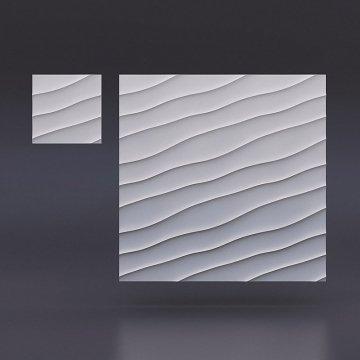 3d панели Волна диагональная крупная - вид издалека