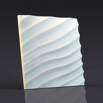 3d панели Волна диагональная мелкая - вид спереди