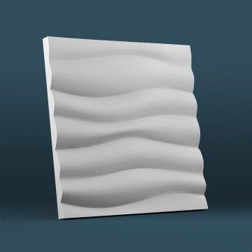 Волна горизонтальная крупный рельеф - 3д панели