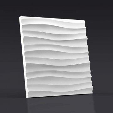 3d панели Волна горизонтальная мелкая - вид спереди