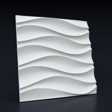 3д панели Волна симметричная - фото спереди